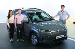 .Hyundai Motor unveils electric version of Kona subcompact SUV.