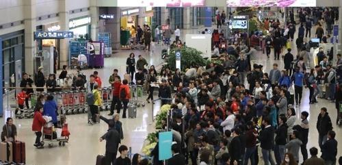 3月访韩中国人增加 时隔1年多超40万