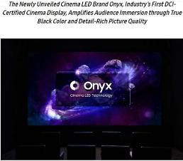 .Samsung unveils new Onyx digital theater screen.