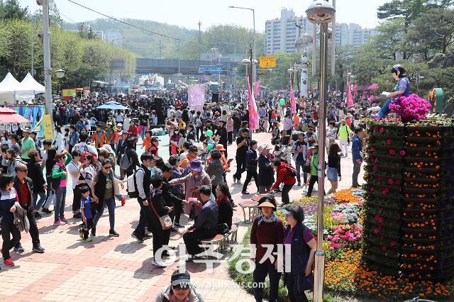 군포시 수십만명 인파 철쭉축제 나들이 즐겨