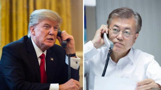 文在寅向特朗普提议在济州岛举行朝美首脑会谈