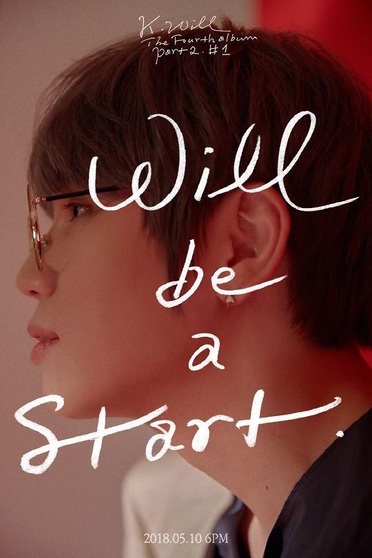 """""""情歌王子""""K.Will回归歌坛 发行新专辑《Will be a start》"""