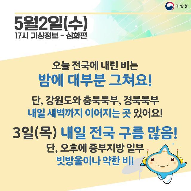 [내일날씨 카드뉴스]전국 흐리고 중부 약한 비··· 바람강하고 체감온도가 낮아져 쌀쌀