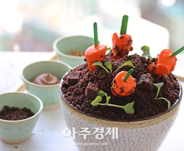 화분 아니에요~파크하얏트 서울, 당근 초콜릿 빙수 출시