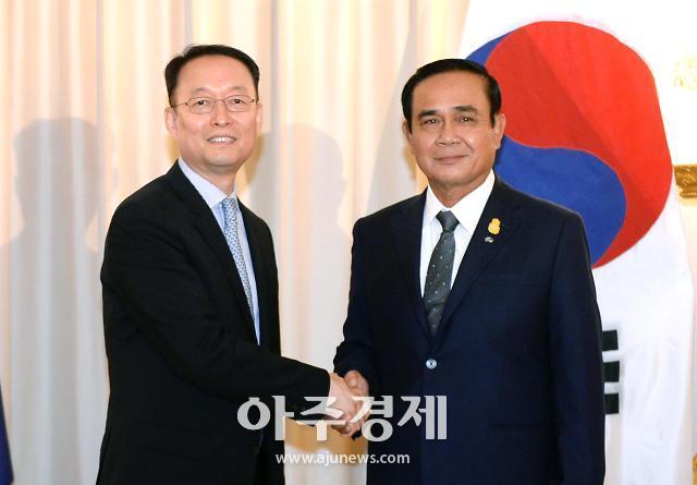 백운규 산업부 장관, 신남방정책 중심국가 태국과 경제협력 확대방안 논의