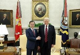 .Trump and Moon agree to push ahead with summit as planned: Yonhap.