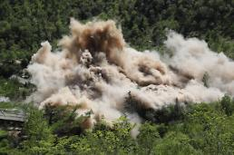 .N. Korea conducts extensive publicity of dismantled nuclear test site  .