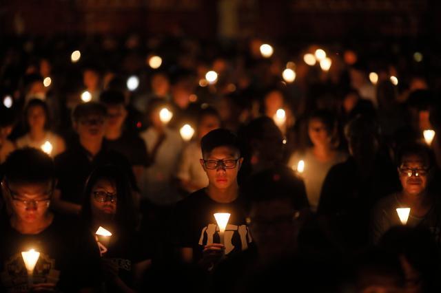 [포토] 톈안먼 추모 촛불집회
