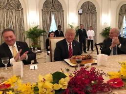 [SUMMIT] President Trump receives birthday cake from Singapore premier before summit