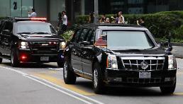 .特朗普抵达嘉佩乐酒店 朝美首脑会谈即将举行.