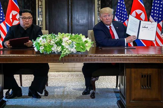 [SUMMIT] Text of U.S.-North Korea joint statement (unofficial)