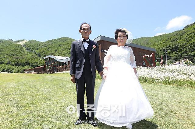 강원랜드 사회봉사단, 하이원 꿈의 결혼식 하늘아래 천생연분 주최