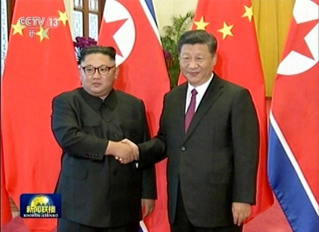 金正恩和习近平在京举行第三次会晤
