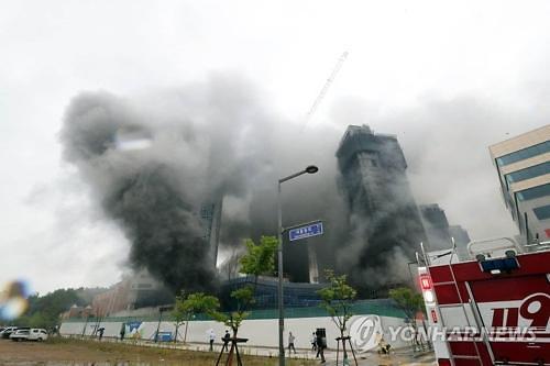 韩国世宗市建筑工地火灾中15名中国人伤亡