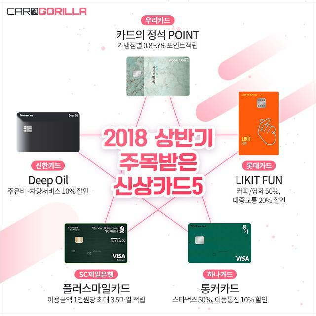 2018 상반기 가장 주목받은 신상 카드는?