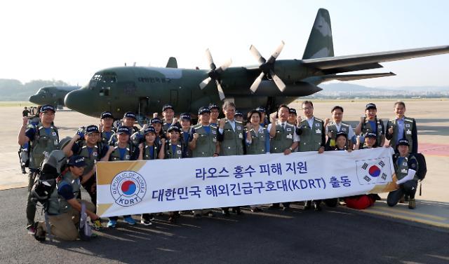 韩国海外救援队今赴老挝灾区
