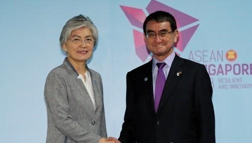 韩日外长在新举行会晤