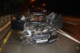 .Police conduct criminal investigation into BMW car fire.