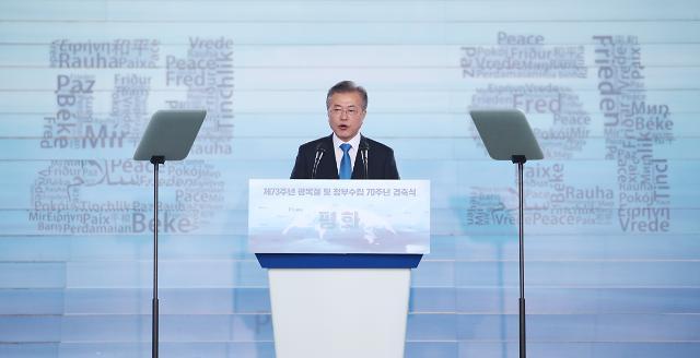 President Moon proposes Northeast Asia railway community