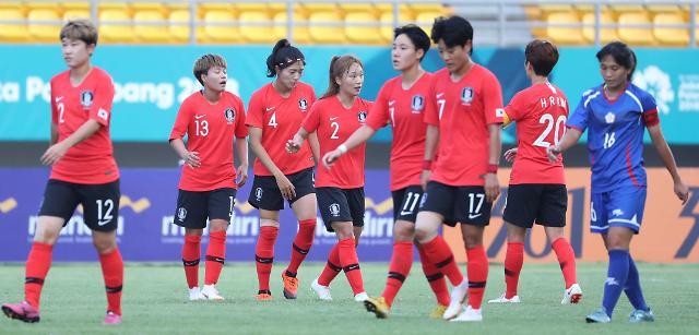 亚运韩女足2-1战胜中国台湾队