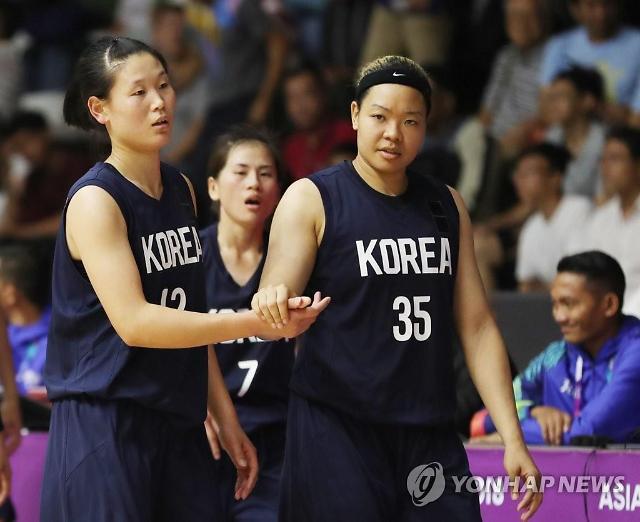 [아시안게임] 여자농구 단일팀, 대만에 연장 접전 끝 '첫 패배'