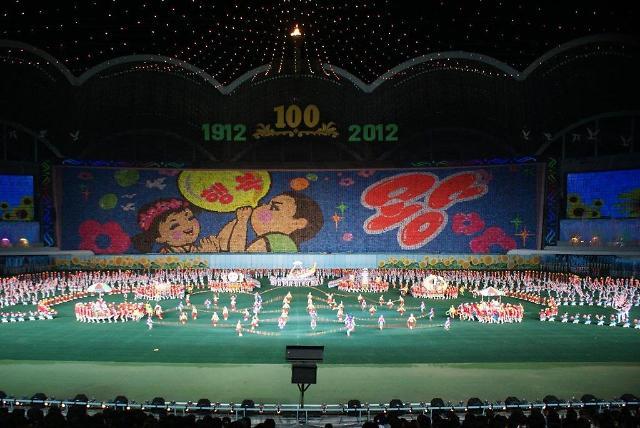 朝鲜十万人团体操表演开始订票 价格从13万到103万韩元不等