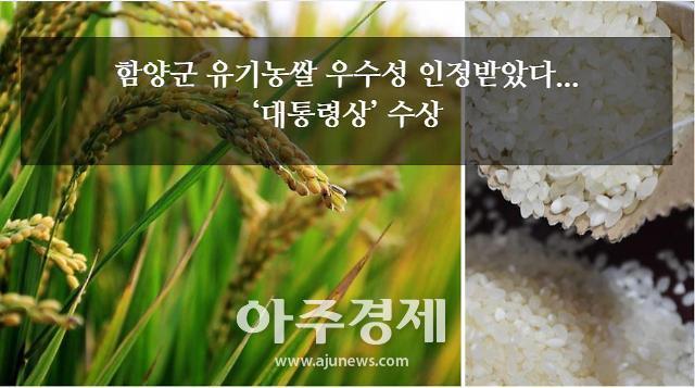 [로컬카드뉴스-함양군] 유기농쌀 우수성 인정받아...대통령상 수상