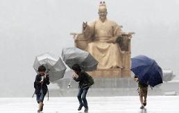 """.台风""""苏力""""明日登陆韩半岛 全国暴雨来袭."""