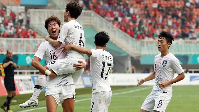 [아시안게임] 한국, 일본과 축구 결승전 성사…사상 첫 '운명의 한일전'