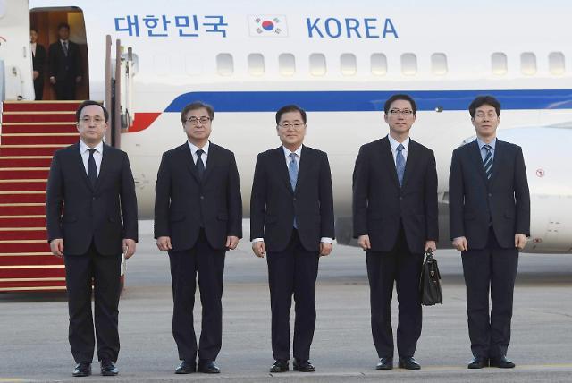 """""""先签《终战宣言》 后实行无核化"""" 韩国特使团明日访朝斡旋"""