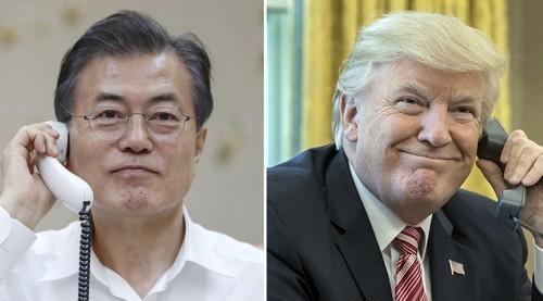 韩美领导人通话商定就无核化紧密合作