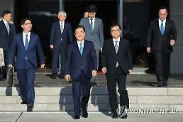 .韩国总统特使团正与朝方会谈.