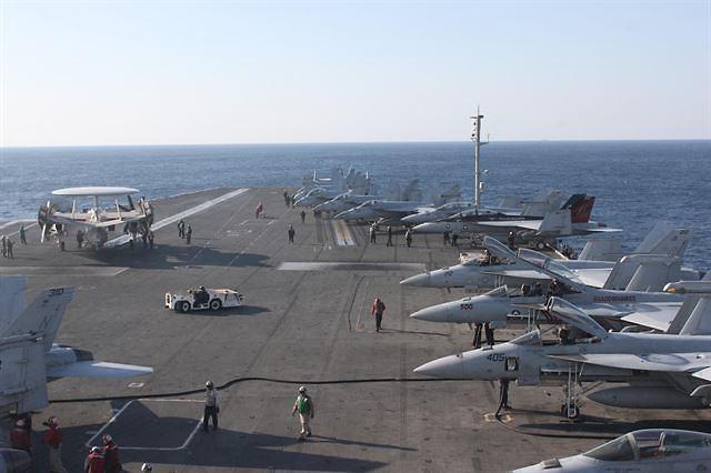 美国里根号航母下月抵达韩国济州岛