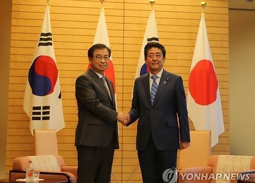 韩总统特使徐熏会见日本首相 介绍访朝结果