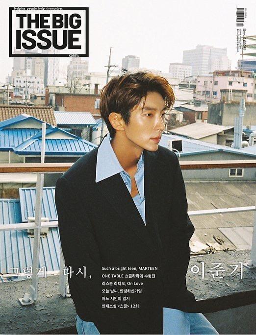 演员李准基公开流浪者援助杂志《BIG ISSUE》画报
