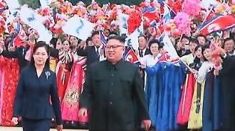[포토/평양 남북정상회담] 마중나온 김정은,리설주