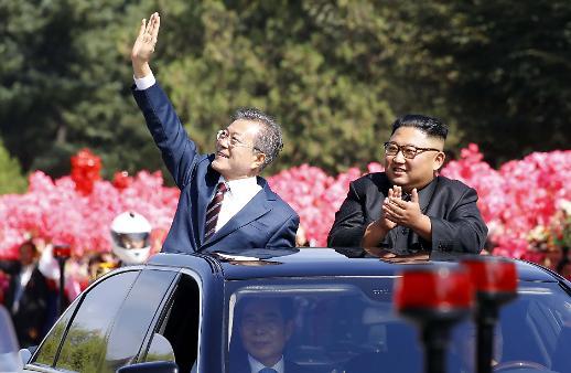 [포토/평양 남북정상회담] 무개차 타고 카퍼레이드