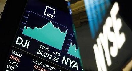 [증시] 미중 무역갈등 고조에도 다우지수 0.71% 상승