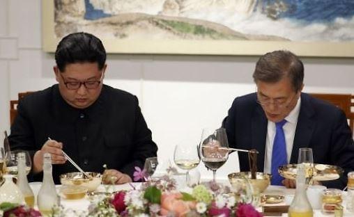 [평양 남북정상회담] 文대통령·김정은 내외, 옥류관서 함께 오찬