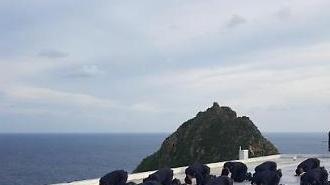 [포토] 독도경비대원들의 한가위 합동 차례