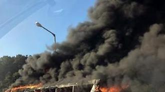 [포토] 불타는 고속버스
