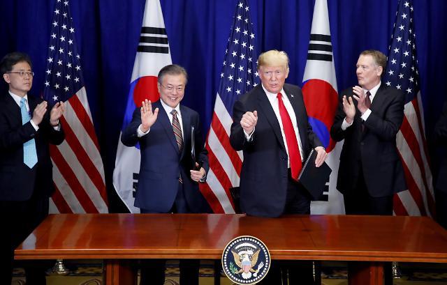 韩美通过《关于韩美FTA的联合声明》