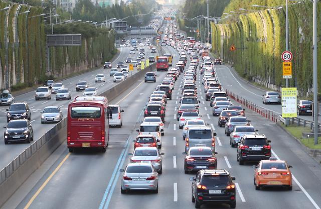 고속도로 교통상황, 추석 귀경길 정체 시작 끔찍… 부산서 서울 7시간, 오후 4~5시 절정