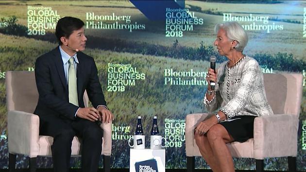 """IMF 총재 만난 리옌훙 """"인터넷 '에피타이저', AI '메인요리'"""" 재차 강조"""