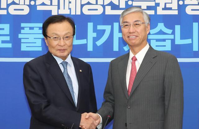 韩国执政党代表与中国驻韩大使举行会谈
