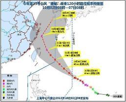 """.注意!超强台风""""康妮""""本周末或登陆韩国."""