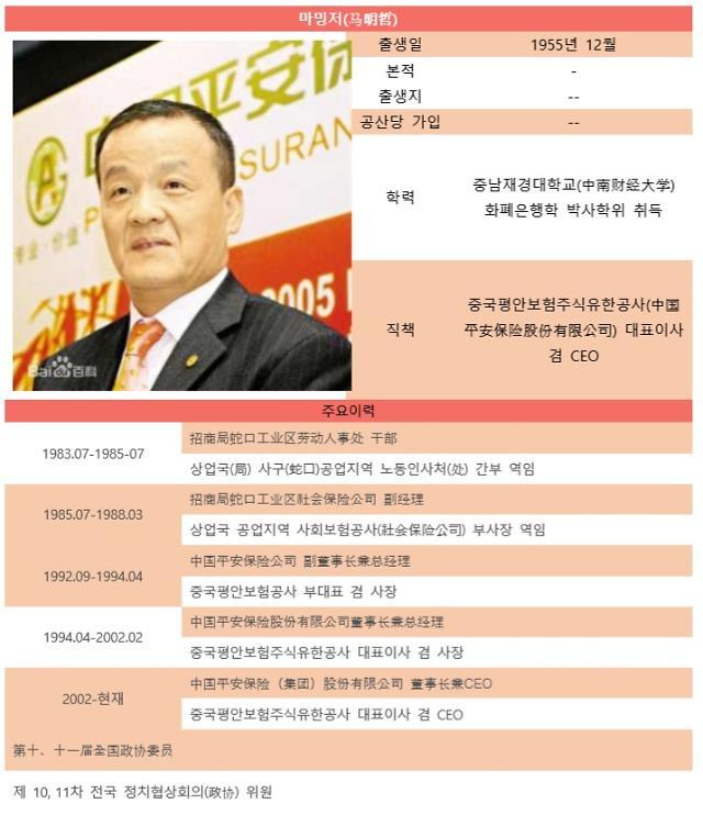 [시진핑시대 금융엘리트 120인]⑲ 中 최초의 주식제 보험사 '중국평안보험'