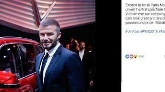 David Beckham đăng dòng trạng thái sau khi tham dự sự kiện ra mắt Vinfast