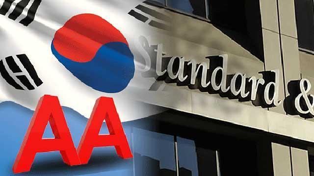 标准普尔维持韩国主权信评为AA