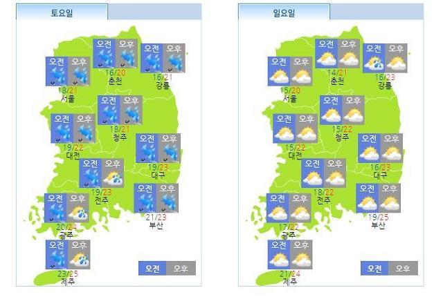 태풍 콩레이, 한반도 영향준다…주말날씨는?